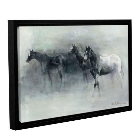 Brushstone In The Mist Gallery Wrapped Floater-Framed Canvas Wall Art