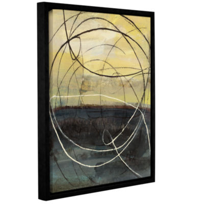 Brushstone At Dawn Crop Gallery Wrapped Floater-Framed Canvas Wall Art