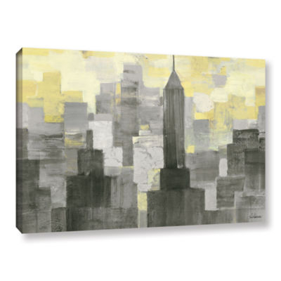 Brushstone City Blocks Neutral Gallery Wrapped Canvas Wall Art
