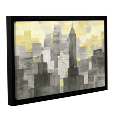 Brushstone City Blocks Neutral Gallery Wrapped Floater-Framed Canvas Wall Art