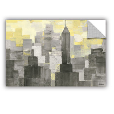 Brushstone City Blocks Neutral Removable Wall Decal
