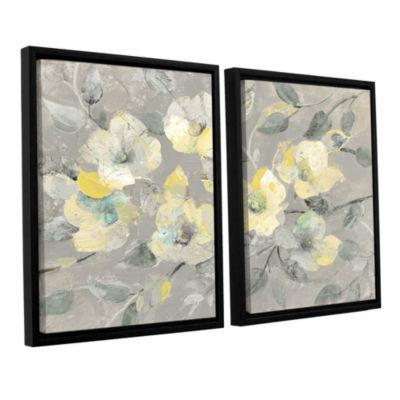 Brushstone Fading Spring Gray 2-pc. Floater FramedCanvas Wall Art