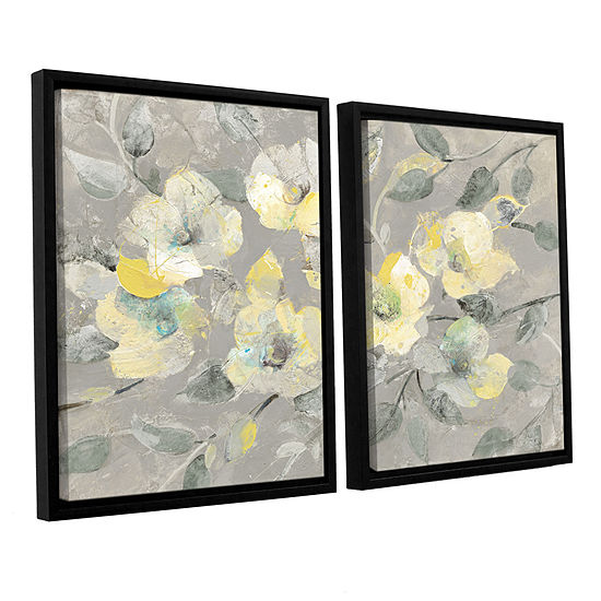 Brushstone Fading Spring Gray 2-pc. Floater Framed Canvas Wall Art