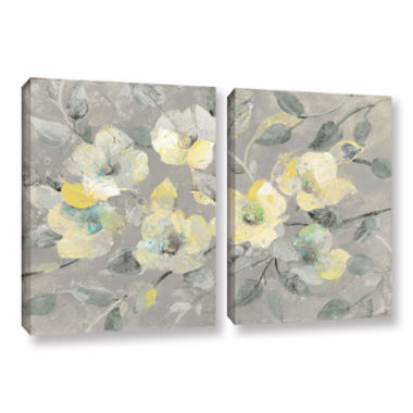 Brushstone Fading Spring Gray 2-pc. Gallery Wrapped Canvas Wall Art