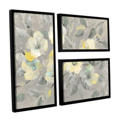 Brushstone Fading Spring Gray 3-pc. Flag Floater Framed Canvas Wall Art
