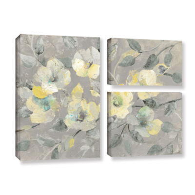 Brushstone Fading Spring Gray 3-pc. Flag Gallery Wrapped Canvas Wall Art