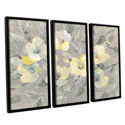 Brushstone Fading Spring Gray 3-pc. Floater FramedCanvas Wall Art