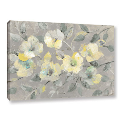 Brushstone Fading Spring Gray Gallery Wrapped Canvas Wall Art