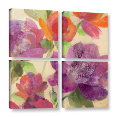 Brushstone Garden Delight IV 4-pc. Square GalleryWrapped Canvas Wall Art