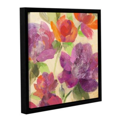 Brushstone Garden Delight IV Gallery Wrapped Floater-Framed Canvas Wall Art