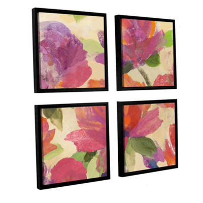 Brushstone Garden Delight V 4-pc. Square Floater Framed Canvas Wall Art