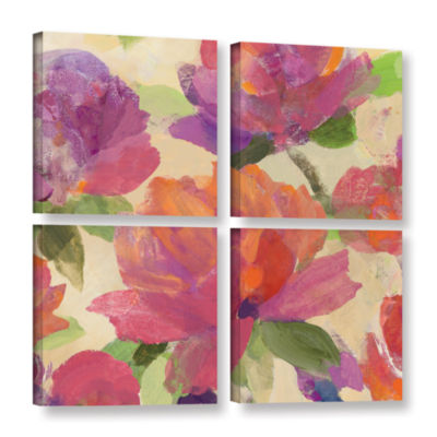 Brushstone Garden Delight V 4-pc. Square Gallery Wrapped Canvas Wall Art