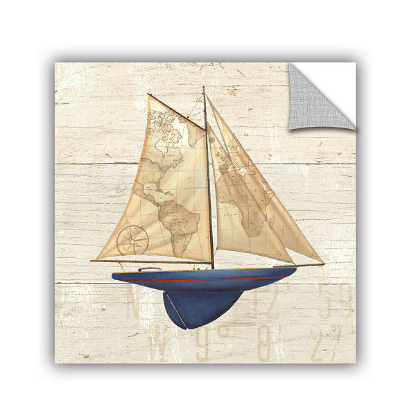 Brushstone Nautique I Removable Wall Decal