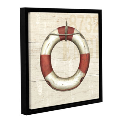 Brushstone Nautique IV Gallery Wrapped Floater-Framed Canvas Wall Art