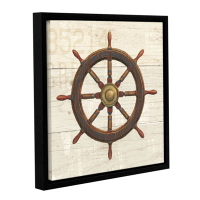 Brushstone Nautique V Gallery Wrapped Floater-Framed Canvas Wall Art
