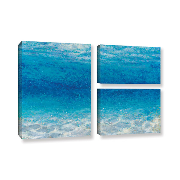Brushstone Underwater I 3-pc. Gallery Wrapped Canvas Flag Set
