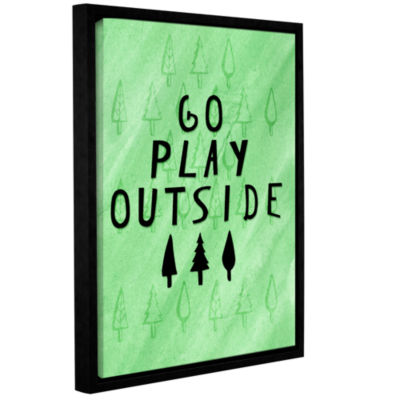 Brushstone Go Play Outside Gallery Wrapped Floater-Framed Canvas Wall Art