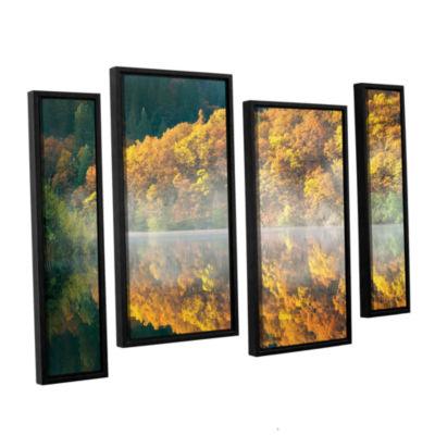 Brushstone Autumn Fog 4-pc. Floater Framed Staggered Canvas Wall Art