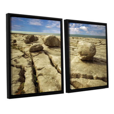Brushstone Boulders 2-pc. Floater Framed Canvas Wall Art