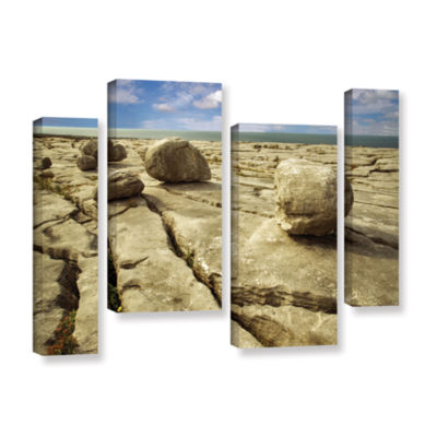 Brushstone Boulders 4-pc. Gallery Wrapped Staggered Canvas Wall Art