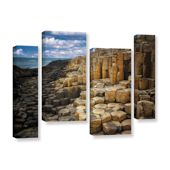 Brushstone Brick Beach 4-pc. Gallery Wrapped Staggered Canvas Wall Art