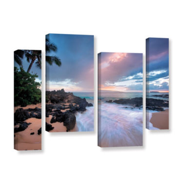 Brushstone Cool Breeze 4-pc. Gallery Wrapped Staggered Canvas Wall Art