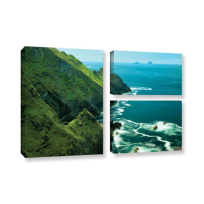 Brushstone Emerald Coast 3-pc. Gallery Wrapped Canvas Flag Set