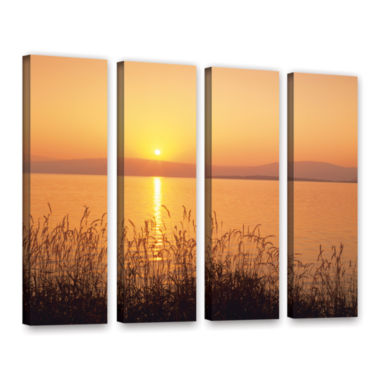 Brushstone Golden Pond 4-pc. Gallery Wrapped Canvas Wall Art