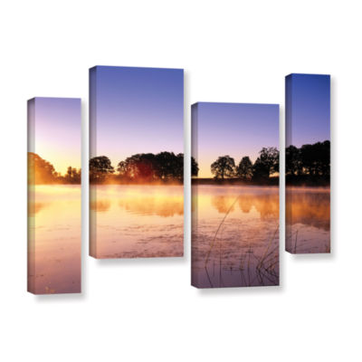 Brushstone Morning 4-pc. Gallery Wrapped StaggeredCanvas Wall Art
