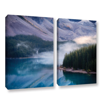 Brushstone Mountain Mist 2-pc. Gallery Wrapped Canvas Wall Art