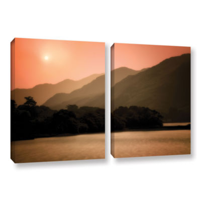 Brushstone Peach Dream 2-pc. Gallery Wrapped Canvas Wall Art
