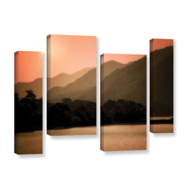 Brushstone Peach Dream 4-pc. Gallery Wrapped Staggered Canvas Wall Art