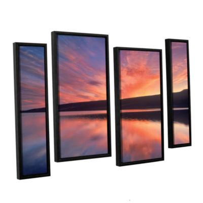 Brushstone Sunset Splendor 4-pc. Floater Framed Staggered Canvas Wall Art