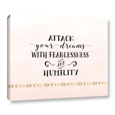 Brushstone Attack Your Dreams Version 2 Gallery Wrapped Canvas Wall Art