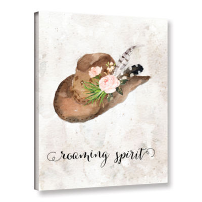 Brushstone Roaming Spirit Watercolor Hat Gallery Wrapped Canvas Wall Art