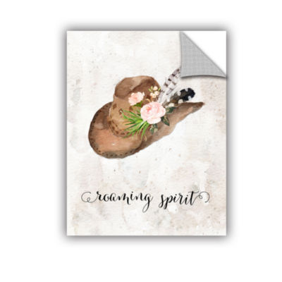 Brushstone Roaming Spirit Watercolor Hat RemovableWall Decal