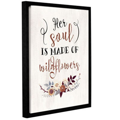 Brushstone Wildflowers Quote Gallery Wrapped Floater-Framed Canvas