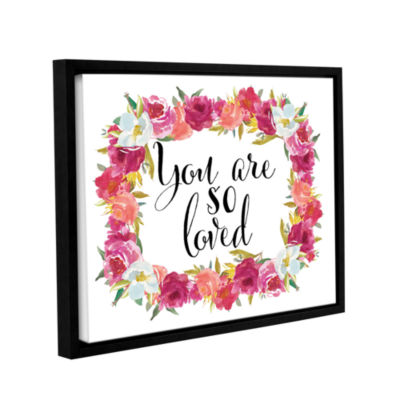 Brushstone You Are so Loved Wreath Gallery WrappedFloater-Framed Canvas Wall Art