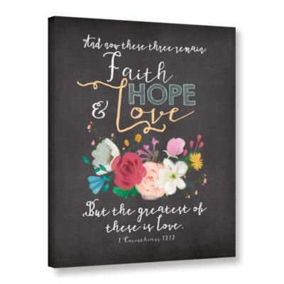 Brushstone Faith Hope & Love Gallery Wrapped Canvas Wall Art