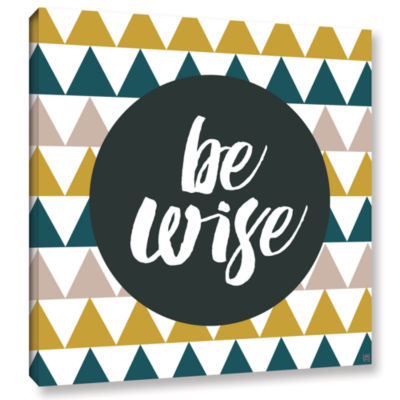Brushstone Be Wise Gallery Wrapped Canvas