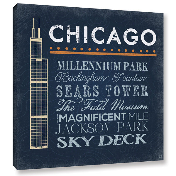 Brushstone Chicago- Sears Tower Gallery Wrapped Canvas Wall Art