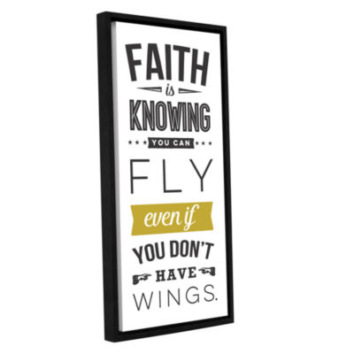 Brushstone Faith Gallery Wrapped Floater-Framed Canvas