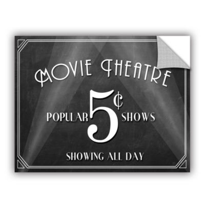 Brushstone Movie Theatre Removable Wall Decal