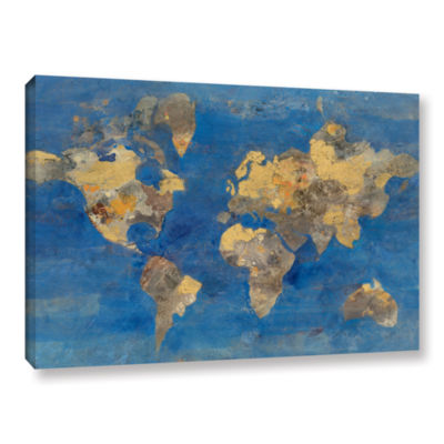 Brushstone Golden World Gallery Wrapped Canvas Wall Art