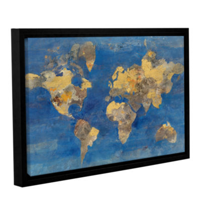 Brushstone Golden World Gallery Wrapped Floater-Framed Canvas Wall Art