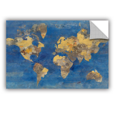 Brushstone Golden World Removable Wall Decal
