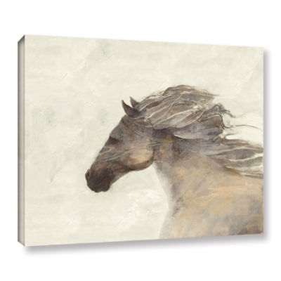 Brushstone Into The Wind Ivory Gallery Wrapped Canvas Wall Art