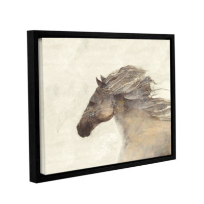 Brushstone Into The Wind Ivory Gallery Wrapped Floater-Framed Canvas Wall Art