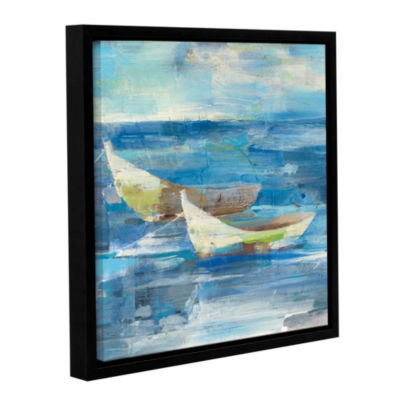Brushstone Mooring For The Day Gallery Wrapped Floater-Framed Canvas Wall Art