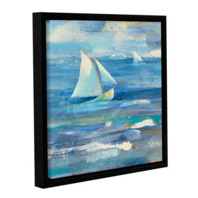 Brushstone Ocean Sail Gallery Wrapped Floater-Framed Canvas Wall Art